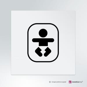Cartello multi-materiale: Fasciatoio con neonato
