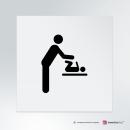 Cartello plexiglass su parete con distanziatori: Fasciatoio con uomo