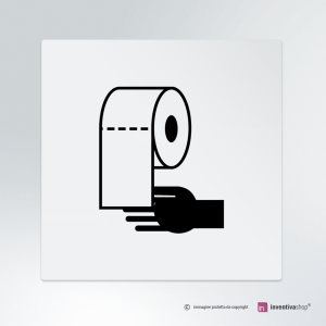 Cartello multi-materiale: Carta mani bagno