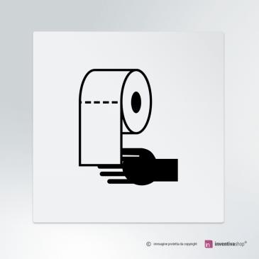 Cartello Carta mani bagno
