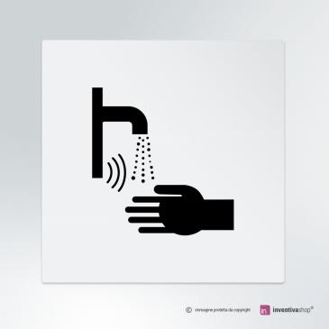 Cartello Lavandino con sensore