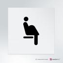 Adesivo Donna incinta posto a sedere riservato: finitura Bianco