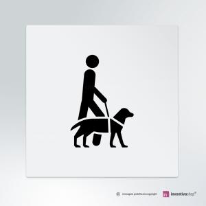 Cartello Accesso consentito ai cani da assistenza