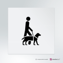 Adesivo Accesso consentito ai cani da assistenza: finitura Bianco
