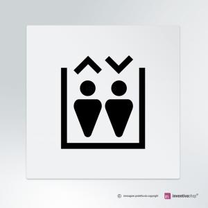 Cartello Ascensore Triangle