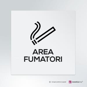 Cartello Area fumatori