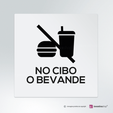 Cartello No cibo o bevande