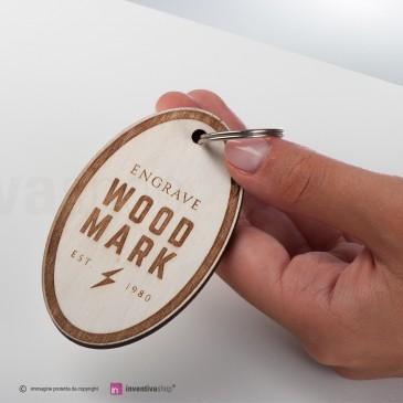 Portachiavi Wood-Mark ovale
