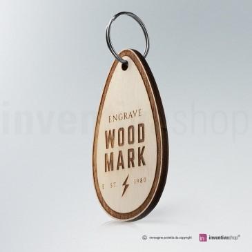 Portachiavi Wood-Mark Goccia