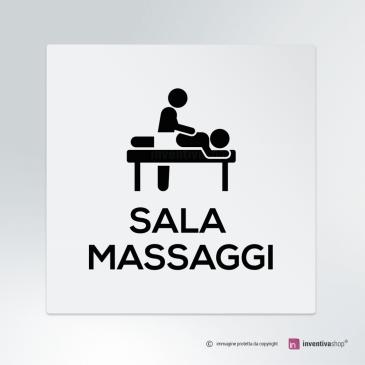 Cartello Sala massaggi