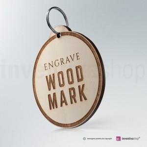Portachiavi Wood-Mark Rotondo