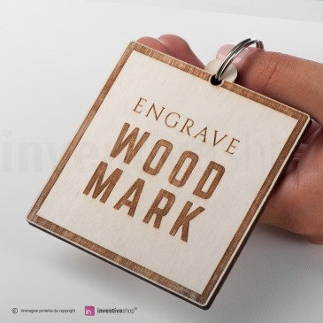 Portachiavi Wood-Mark Quadrato