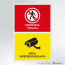 Adesivo Proprietà privata - Area videosorvegliata