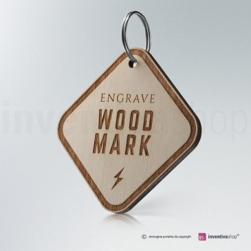 Portachiavi Wood-Mark Rombo