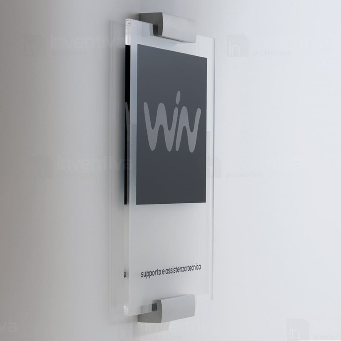 Targhe in plexiglass essential - Targhe porta plexiglass ...