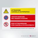 Adesivo Attenzione cancello automatico