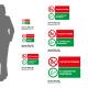 Cartello Vietato fumare, sigarette elettroniche permesse: misure adesivo / alluminio