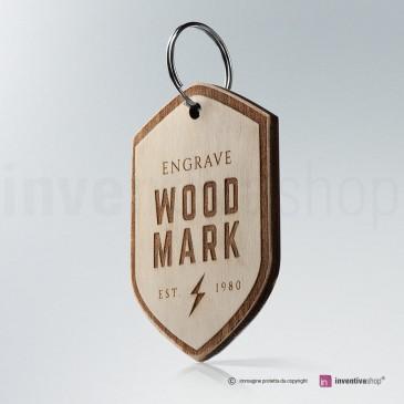 Portachiavi Wood-Mark Roma
