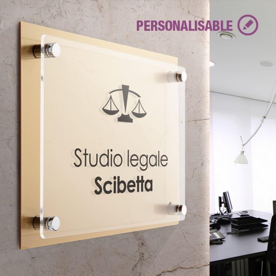 Cartelli plexiglass doppia lastra dual plate gold - Targhe porta plexiglass ...