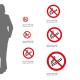 Cartello Vietato fumare P002: misure adesivo