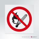 Cartello Vietato usare fiamme libere P003