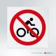 Cartello Divieto di transito alle bici