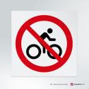Adesivo Divieto di transito alle bici