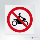 Adesivo Divieto di transito alle moto