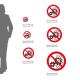 Cartello Non rimuovere la protezione con organi in movimento: misure adesivo