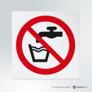 Cartello Acqua non potabile P005