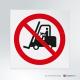 Cartello Divieto di transito ai carrelli elevatori e altri veicoli industriali P006