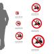 Cartello Divieto di transito ai carrelli elevatori e altri veicoli industriali P006: misure adesivo