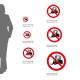 Cartello Divieto di transito ai carrelli elevatori e altri veicoli industriali P006: misure alluminio
