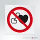 Cartello Vietato l'accesso ai portatori di pacemaker P007
