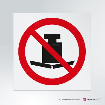 Cartello Non usare carichi pesanti P012