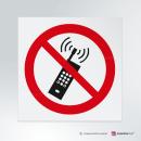 Adesivo Vietato usare i cellulari P013