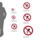 Cartello Vietato l'accesso a persone con protesi metalliche P014: misure adesivo