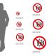 Cartello Vietato usare l'ascensore in caso di incendio P020: misure adesivo