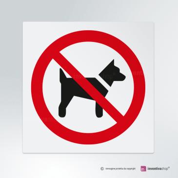Cartello Vietato l'ingresso ai cani P021