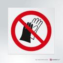 Cartello Vietato indossare guanti P028