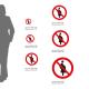 Cartello Vietato l'accesso alle donne incinta P042: misure adesivo