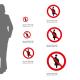 Cartello Vietato l'accesso alle donne incinta P042: misure alluminio