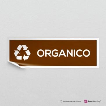 Adesivo Organico per raccolta differenziata mod.A: finitura Bianco