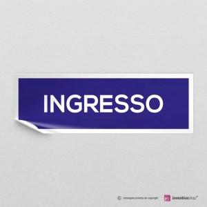 Adesivo Ingresso