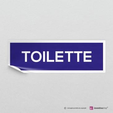 Adesivo Scritta Toilette mod.A: finitura Bianco
