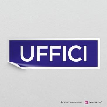 Adesivo Uffici mod.A: finitura Bianco