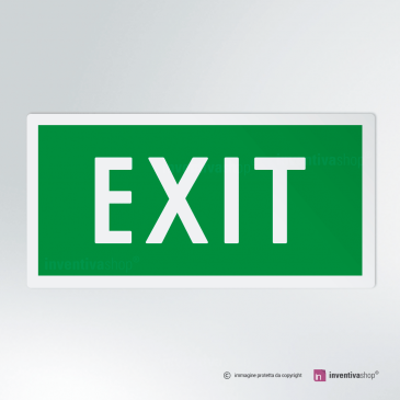 Cartello EXIT rettangolare 2-1