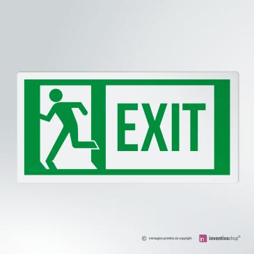 Cartello Uscita d'emergenza EXIT rettangolare 2-1 SX