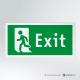 Cartello Uscita d'emergenza EXIT rettangolare 2-1 SX vers.b