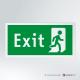 Cartello Uscita d'emergenza EXIT rettangolare 2-1 DX vers.b